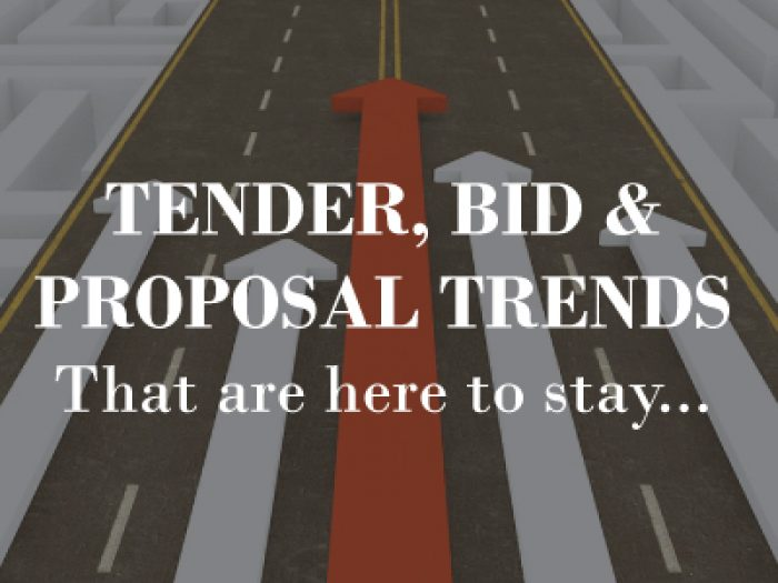 14 tender, bid & proposal trends that are here to stay in 2018
